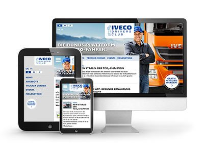 Iveco Drivers-Club, Marketing-Webseite